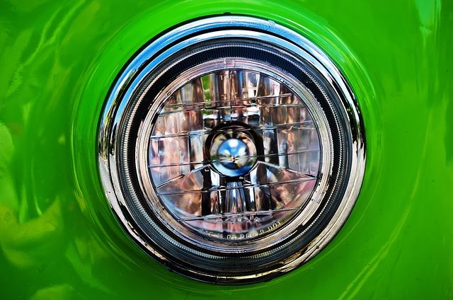 světlo zeleného vozu